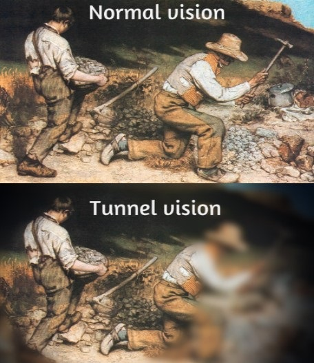 normal v tunnel vision