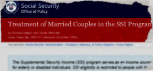 SSI treatment of married couples