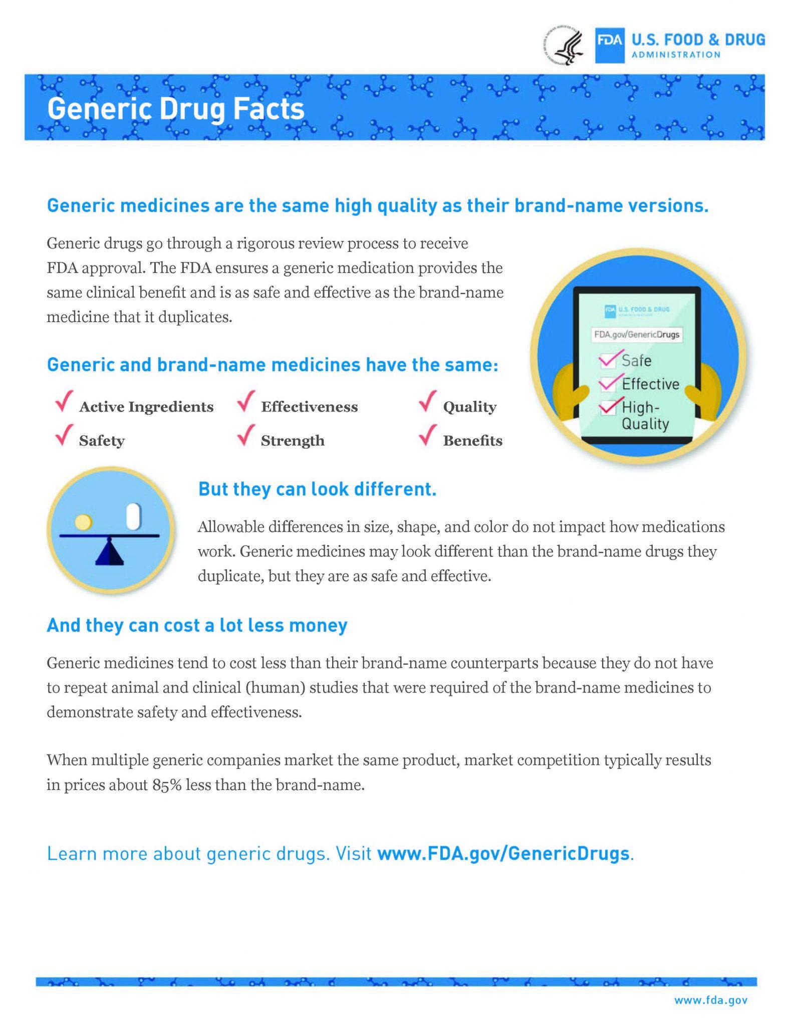 generic drugs fda