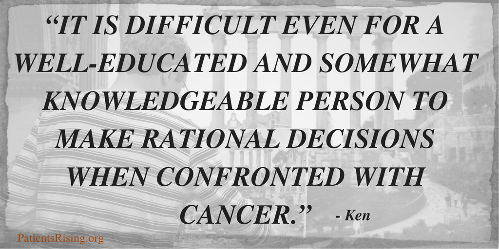 Ken's quote Prostate Cancer
