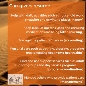 caregivers resume